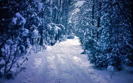 manzarası, kış