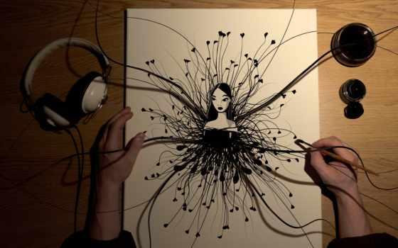 рисунки, абстракция, графика
