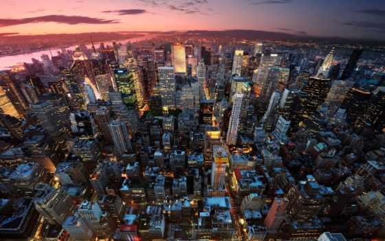 new, город, нью, york, nyc, сша, дома, ночь, небоскребы,