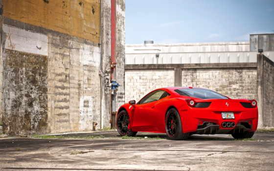 ferrari, italian, italia, red, black, базе, высоком, стена,