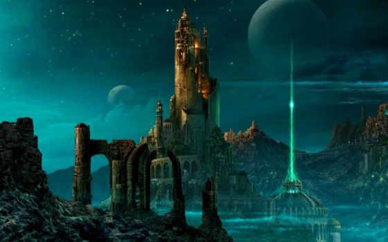города, будущего, fantasy, город, иллюстрации, фантастических, будущее, illustration, мар, photoshop,