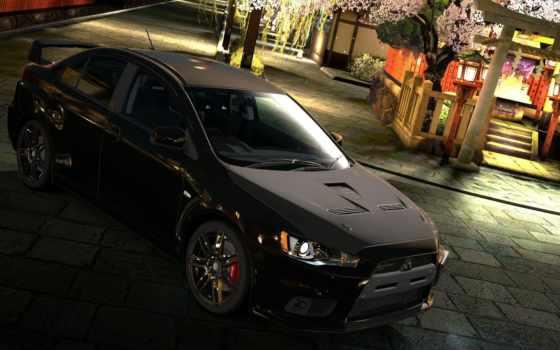 mitsubishi, lancer, black, машина, бесплатные, автомобили, авто, обоях, тачка,