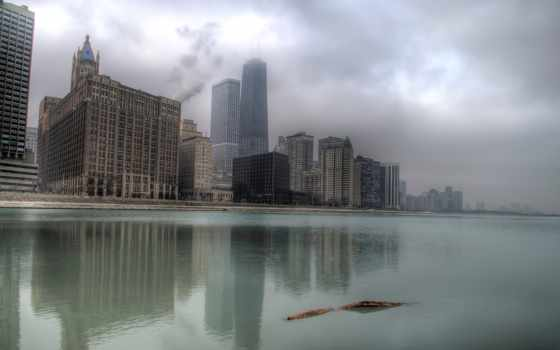 небоскребы, chicago, здания