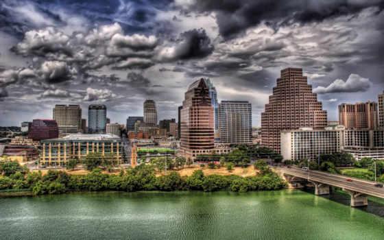 city, город, река