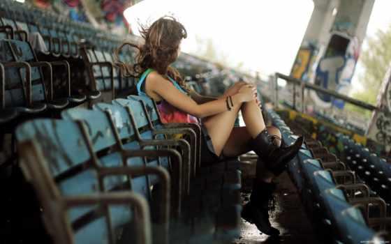 devushka, настроение, стадион