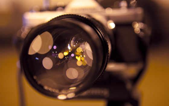 объектив, фотоаппарат, отражение