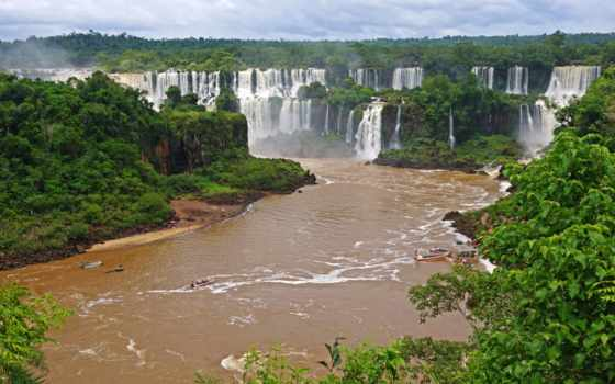 игуасу, brazilian, landscape