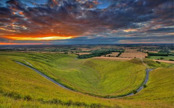 поле, англия, cheap, красивых, коллекция, невероятная, hill, oxfordshire, uffington,
