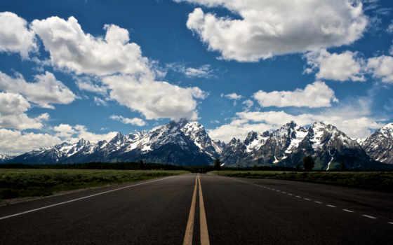 дорога, mountains, альпы, горы, snowy, природа,