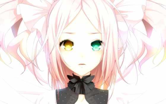 розовый, anime, девушка