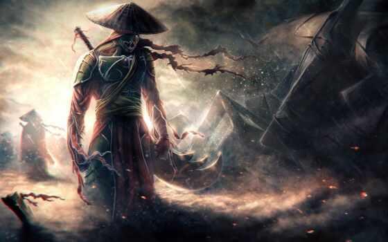 самурай, воин, девушка, меч, art, fantasy, anime,