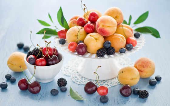 натюрморт, плод, абрикос, ягода, online, puzzle, корзина, еда, cherry, anne, summer