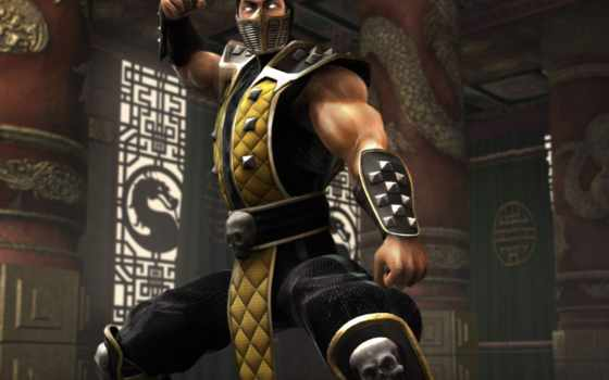 mortal, scorpion, kombat, игры, онлайн, ps, wallpapers, from, up, wallpaper, en,