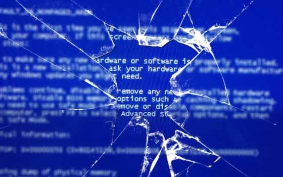 bsod, windows, glass, broken, монитор