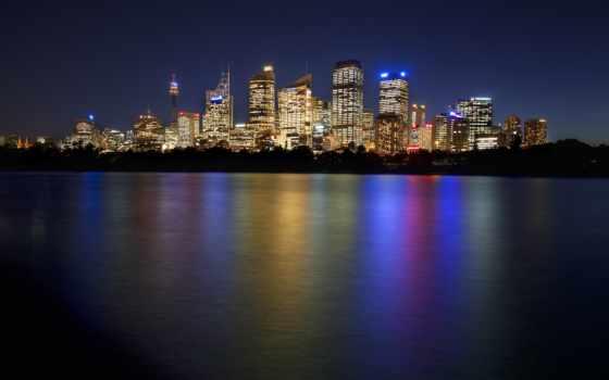 ночь, австралия, сидней