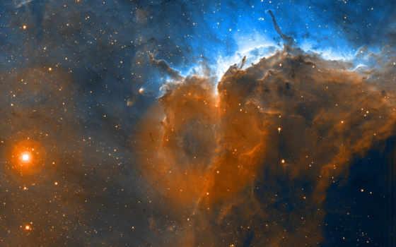 nebula, ngc, орла, большое,