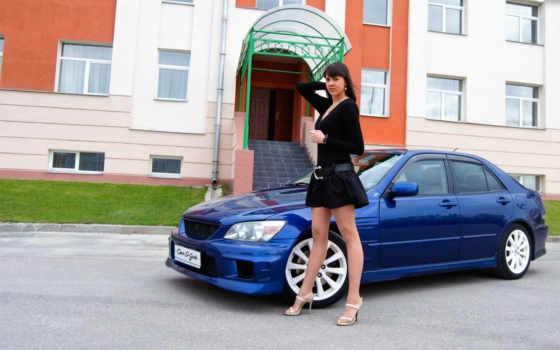 devushki, girls, cars