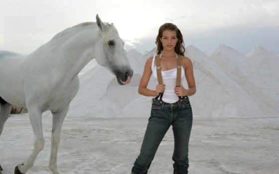 каттерфельд, ивонн, yvonne, catterfeld, немецкая, актриса, лошадь, fone, белая, гор,
