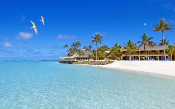 остров, пляж, rarotonga, отдых, life, который, рай, кука