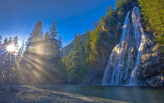 природа, водопад, канада