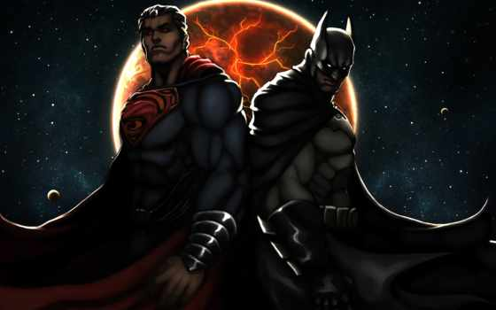batman, superman, justice, рассвет, рыцарь, dark,