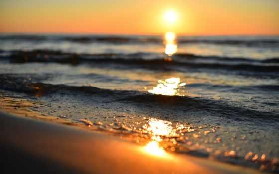 sun, рассветы, закаты, природа, waves, море, закат, water,
