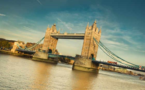 мост, башня, london, великобритания, thames, англия, ук,