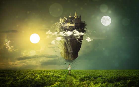 dream, desktop, dreamy, world, луна, sun, equinox, fantasy,