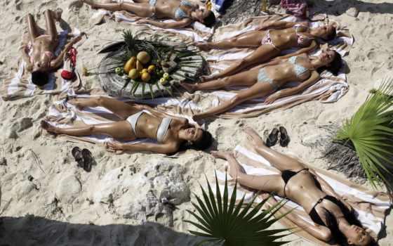 , дерево, песок, фрукты, отдых