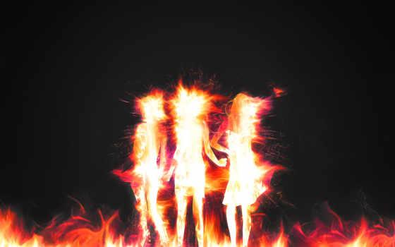 огненные, девушки