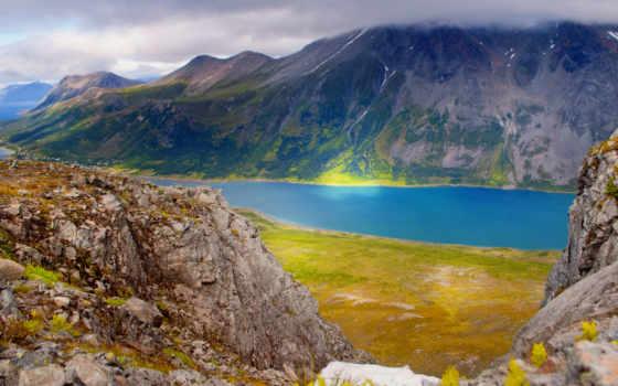 природа, изображение, sun, море, top, норвегия, горы, alcatel,