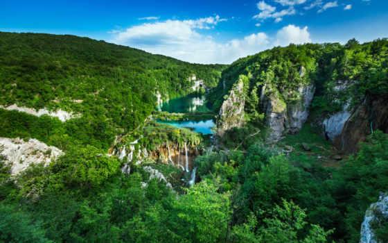 хорватия, природа, водопад