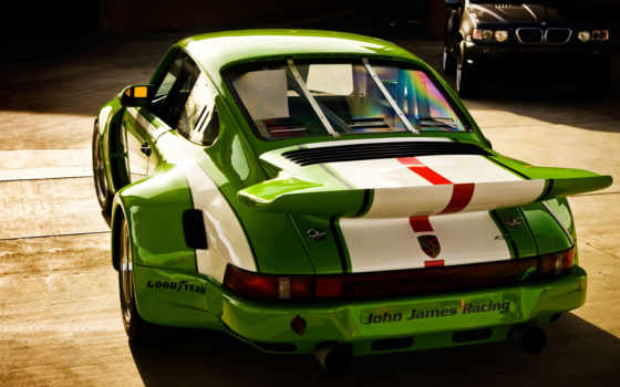 porsche, авто, зелёный