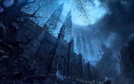 castle, луна, darkness, fantasy, пленники, воин, хостинг, фэнтези, ночь, final,