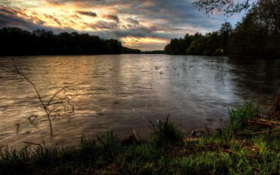 изображение, полировка, reki, природа, trees, rivers, картинка,