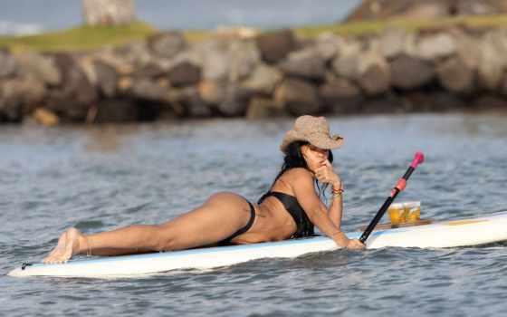отдых, бикини, весло, автомобиль, весло, серфинг, Гавайи, пиво,