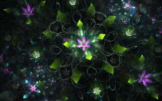цветы, цветение, растение, multicolor, digital, розовый, кассета, white