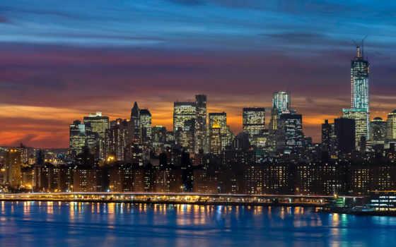 new, york, skyline Фон № 129565 разрешение 1920x1080