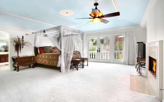 интерьер, спальня, спальни, интерьеры, красивые, светлая, мебель, большим, окном, спален,