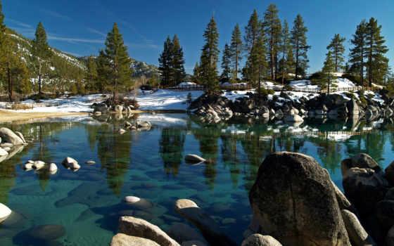 озеро, tahoe, камень, harbor, песок, nevada, desktop, state,