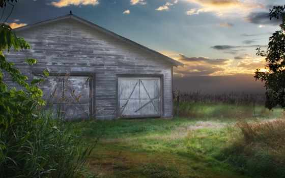 barn, country, manipulation, free, фон, pictures,