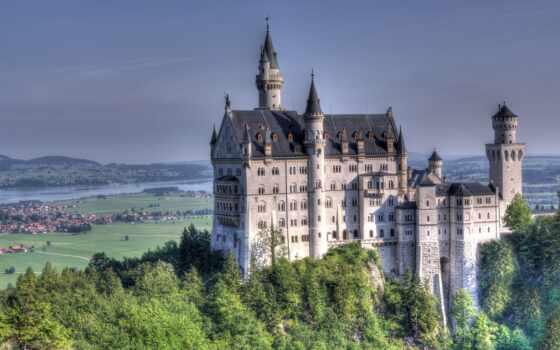 schloss, нойшванштайн, castle, sachgeschichte, mit, disneyland