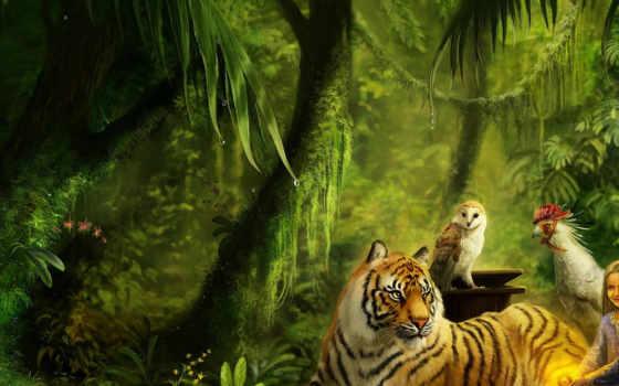 животные, тигр