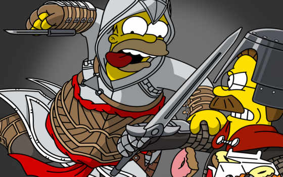 simpsons, creed, homer, assassin, free, blackberry, wallpapapers, with, simpson, facebook,