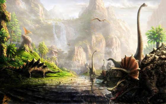 динозавры, zhivotnye, древние,