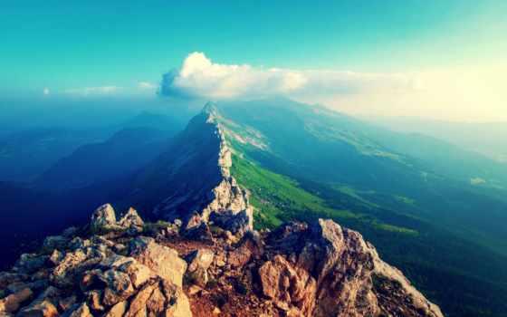 ,, mountainous landforms, гора, небо, природа, горный хребет, хребет, аэрофотосъемка, горная станция, холм, облако,