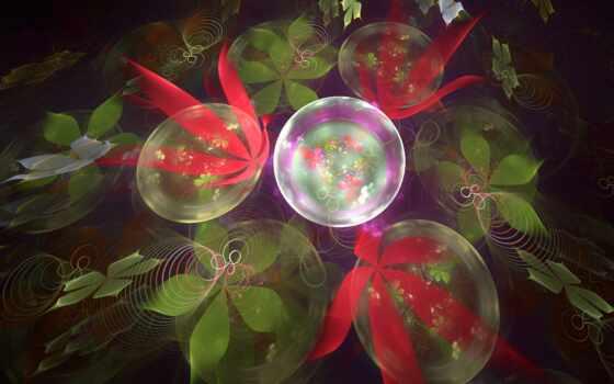 цветы, fractal, абстракция, три, красивый, free, биг, shirokoformatnyi, вектор, toad