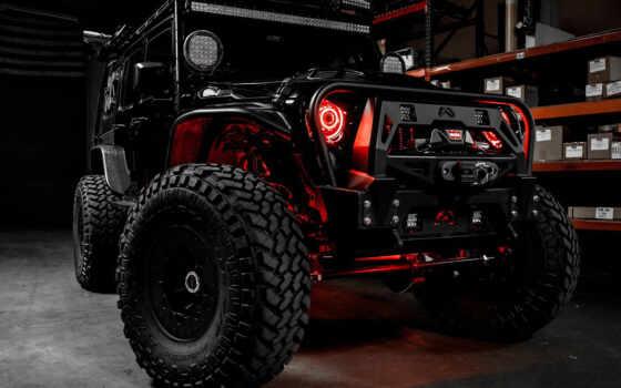 jeep, wrangler, black, unlimited, monster, дорога, машина, off, подъёмник, rebel, car