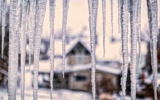 сосульки, winter, макро