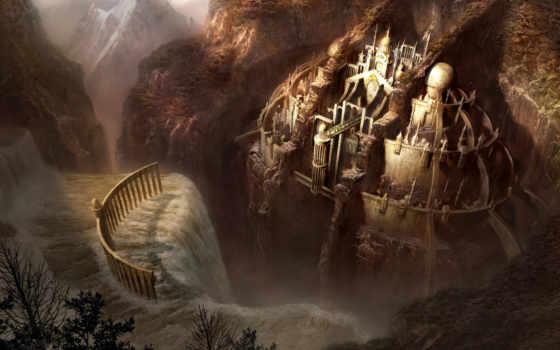 fantasy, города, будущего